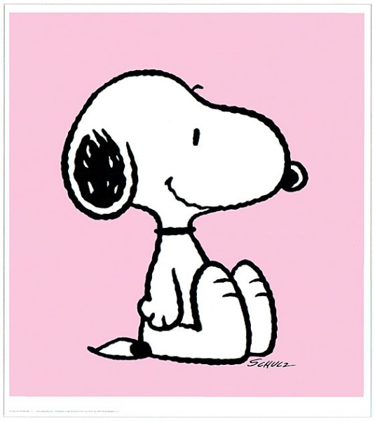 Peanuts - Snoopy - Pink