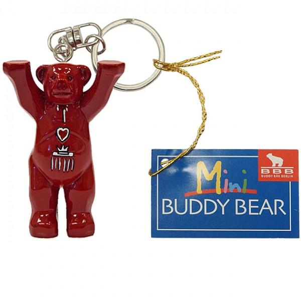 Schlüsselanhänger - I Love Berlin Rot - Buddy Bear