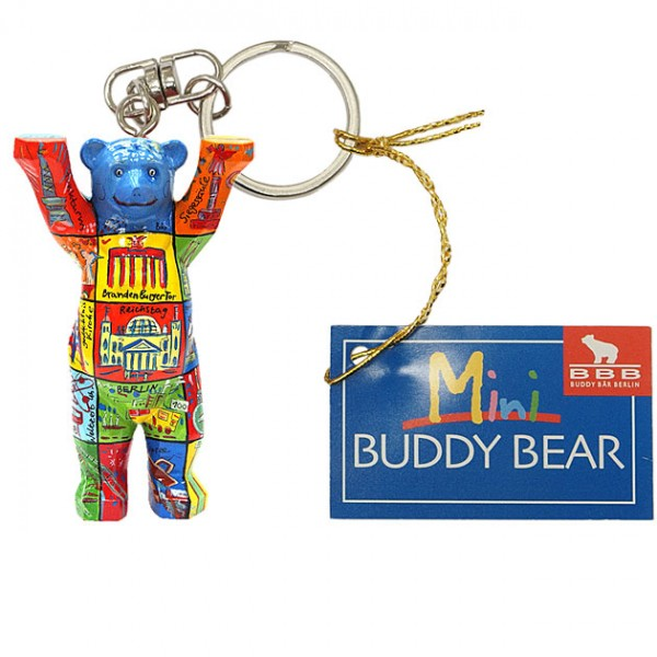 Schlüsselanhänger - Berlin Squares - Buddy Bear