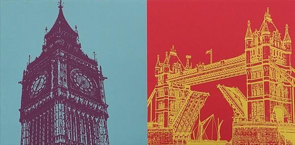 London - 50 x 25 cm