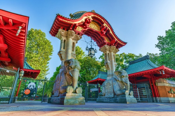 Elefanten-Tor - Zoo Berlin Eingang Buapester Straße in HDR Qualität