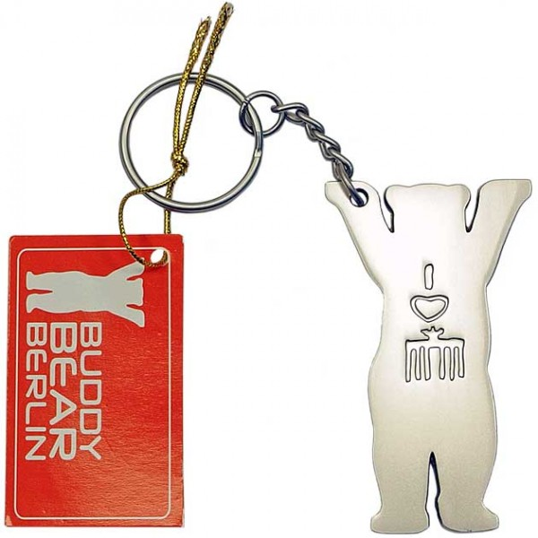 Schlüsselanhänger - Buddy Bär Metallic 2D - Buddy Bear