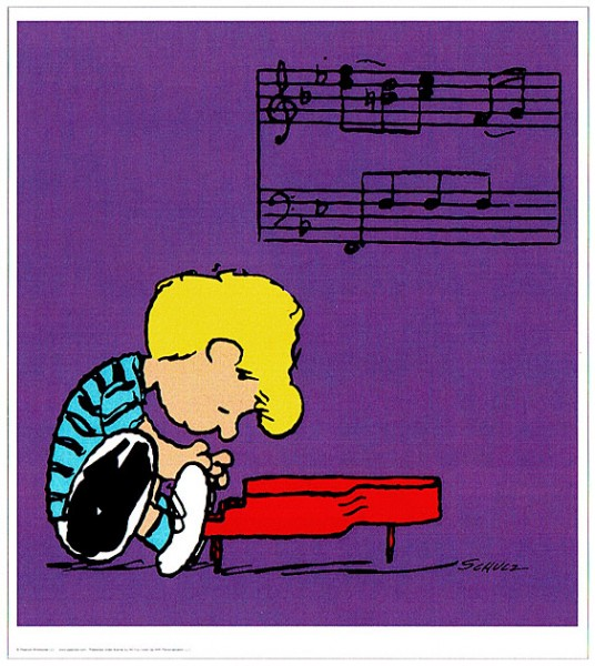 Peanuts - Schroeder - Purple