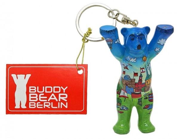Schlüsselanhänger - Comic Blue - Buddy Bear