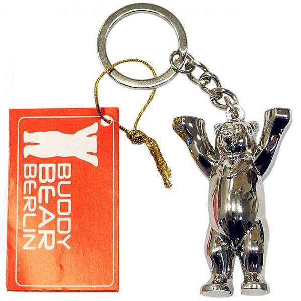 Schlüsselanhänger - Buddy Bär Metallic 3D - Buddy Bear