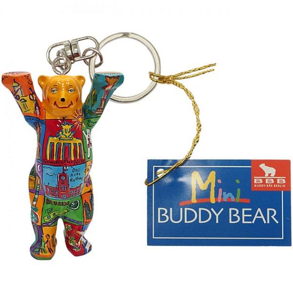 Schlüsselanhänger - Berlin Squares III - Buddy Bear